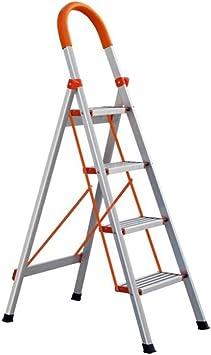 Suministros de construcción Antideslizante escaleras de tijera de metal, la ingeniería de una cara de tijera de doble uso de tijera Librería Escalera Escalera Fotografía ahorra espacio: Amazon.es: Bricolaje y herramientas