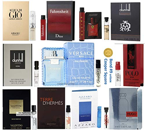 Pilestone's Selection: 12 Cologne Samples For Men All High End Designer Fragrances Great For Holiday Gifts