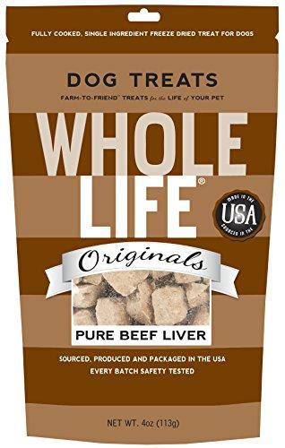 Whole Life Freeze Dried Dog Treats, Beef Liver, 4 Oz.