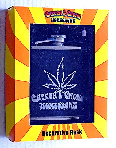 Novelty Collectible Homegrown Stainless Steel Drinking Flask With Funnel And Gift Box - 2004 - Factory Sealed - This Is For 1 Flask Only - Slight Peeling On The Flask,Tape Mark On Box Front