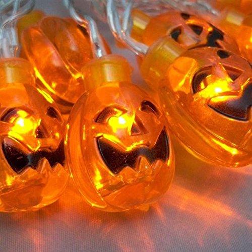 Euone  Halloween Clearance , 20 LED Pumpkin String Lights Halloween Decoration Lights Warm White 7.2ft