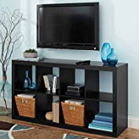 Horizontal or vertical 8 Cube Multiple Storage Organizer in Solid Black