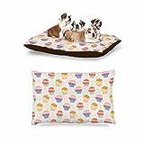 KESS InHouse Cristina bianco Design ''Cupcakes'' Yellow Food Dog Bed, 30'' x 40''