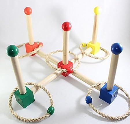 モンテッソーリ カラー輪投げ Montessori Color Ring Toss Game 知育玩具