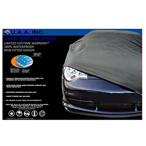 UAA Gray Fitted Waterproof Car Cover for CHRYSLER PT CRUISER ()