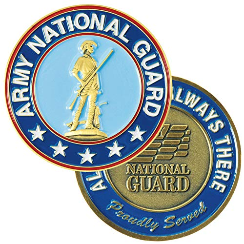 Medals of America Army National Guard Challenge Coin Blue