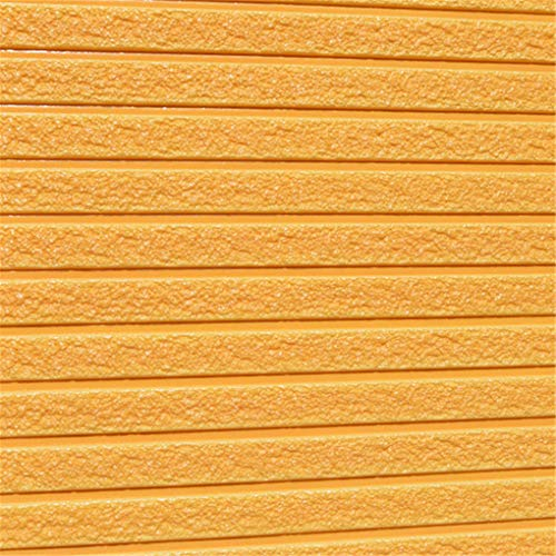 Jencheomry 3D Creative Wall Stickers Living Room Dormitory Self-Adhesive Foam Imitation Brick Stone Striped Wallpaper Sticker Orange -