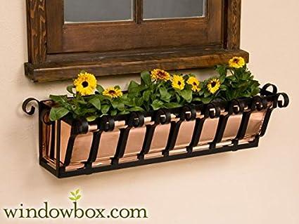 "window box Wrought Iron Wall Planter 48/"" Metal Window Boxes"