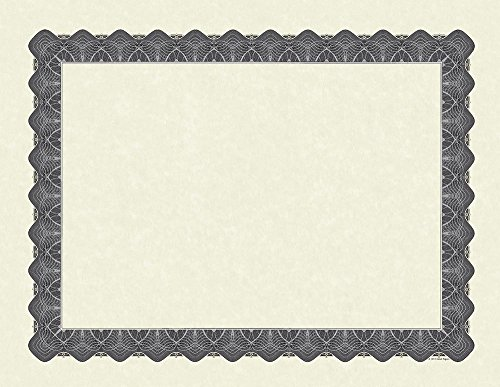 Great Papers! Metallic Silver Certificate, 100 Count, 8.5''x11'' (934300) by Great Papers!