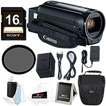 Canon VIXIA HF R800 Camcorder (Black) 16GB SDHC card + 43mm Filter + Camera Bag & Essential Bundle