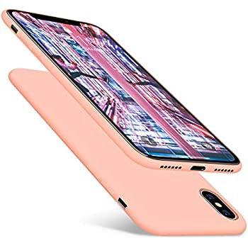 DTTO Case for iPhone X Case 2017(ONLY), [Not for iPhone Xs], [Romance Series] 1st Generation Silicone Gel Rubber Anti-Scratch Shockproof Case for Apple iPhone X (2017), Rose Gold