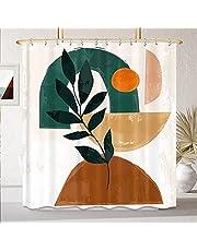 KOMLLEX Abstract Geometric Shower Curtain