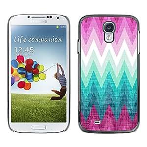 Paccase / SLIM PC / Aliminium Casa Carcasa Funda Case Cover para - Zig Zag Purple Hills Pattern - Samsung Galaxy S4 I9500