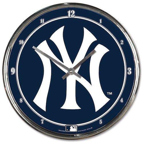 Wincraft CD-1094327946 New York Yankees Chrome Clock