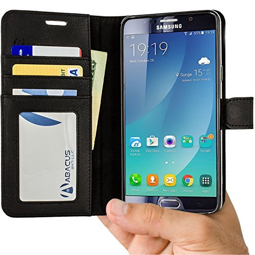 Note 5 Case, Abacus24-7 Samsung Galaxy Note 5 Wallet with Fl