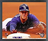 "Evan Longoria Tampa Bay Rays MLB Action Photo (Size: 12"" x 15"") Framed"