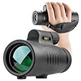 Monocular Telescope,8x42 Compact spotting scope,Prism Film Optics, High power Monocular Scope with Hand Strap and Carrying Case for Camping/Hunting/Traveling/Sporting Events Bird Watching (dark black)