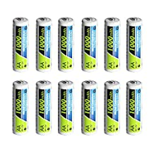PowerDriver 1000mAh Aa Ni-CD NiCD Rechargeable Batteries for Solar Lamp Microphone Keyboard Toy (12)