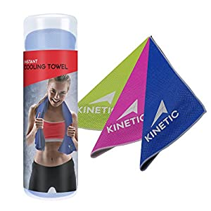 KINETIC Cooling Towel - Unique microfiber mesh design towel for INSTANT chilling sensation - 40 Inches long. from Kinetic Performance Gear