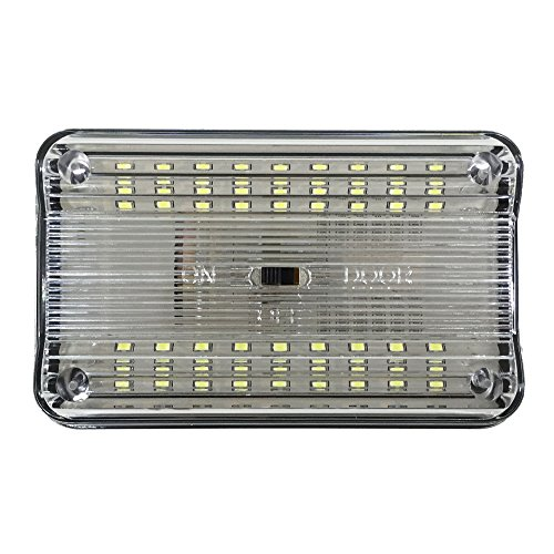 12v-LEDlight 4.3inch Car Dome Light Replacement - 36 White LEDs RV Door Lamp with Switch - Slim Ceiling Lights for Interior Auto Camper Trailer Motor Home Truck Marine Lighting