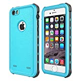 iPhone 5 5S SE Case Waterproof, iThrough® 【NEW】iPhone 5 5S SE Underwater Case/2M, Shockproof Dirtproof Snowproof Rain Proof, Heavy Duty Full Protection Phone Case Cover for iPhone 5 5S SE