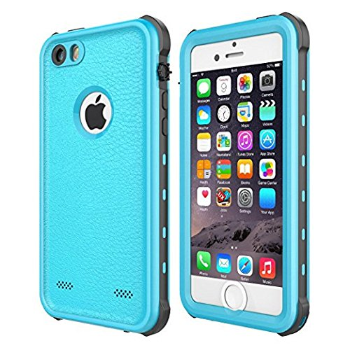 official photos cd847 f1ac0 iPhone 5 5S SE Waterproof Case, iThrough 【New】 iPhone 5 5S SE Underwater  Case/2M, Shockproof Dirtproof Snowproof Rain Proof, Heavy Duty Full ...