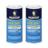Morton Lite Salt, With Half The Sodium Of Table