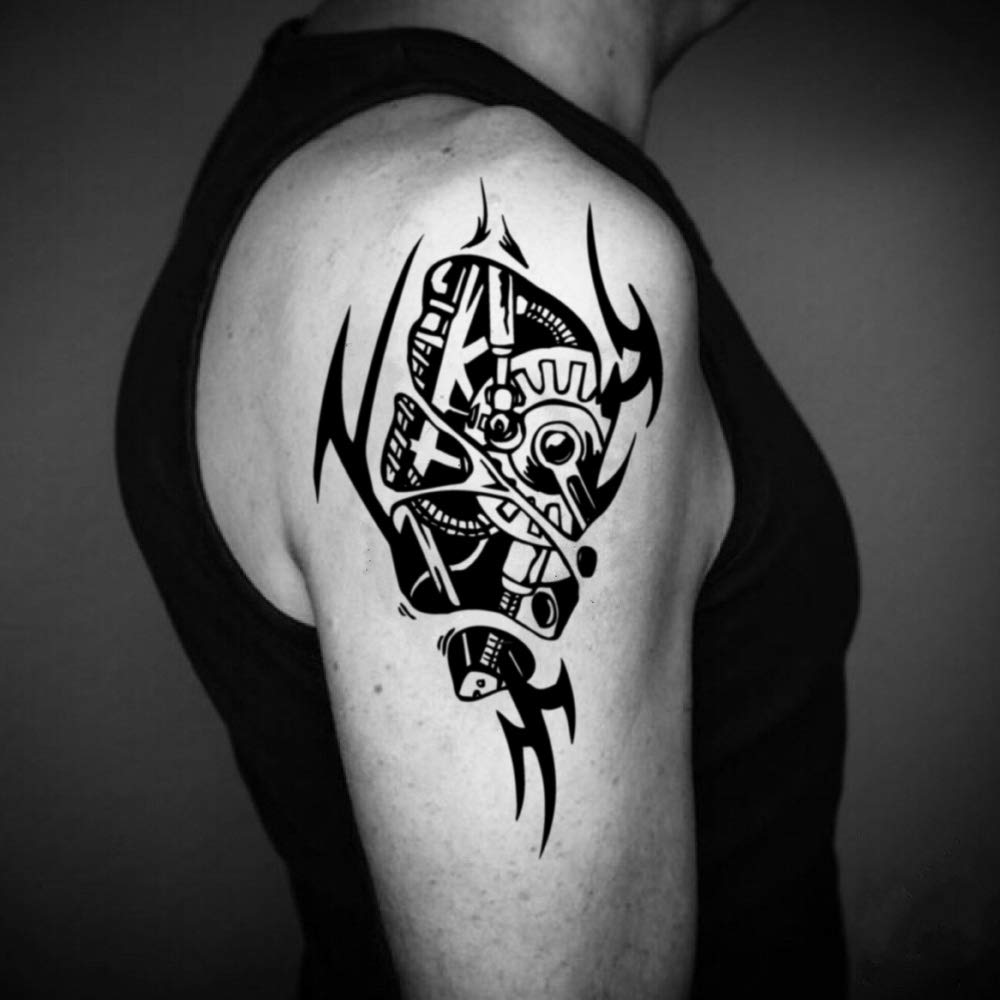 Tatuaje Temporal de Biomecánico (2 Piezas) - www.ohmytat.com ...