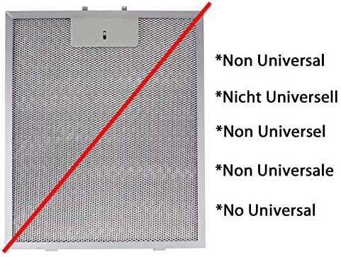 Spares2go Universal Dunstabzugshaube Metall Fettfilter Silver, 320 x 260mm