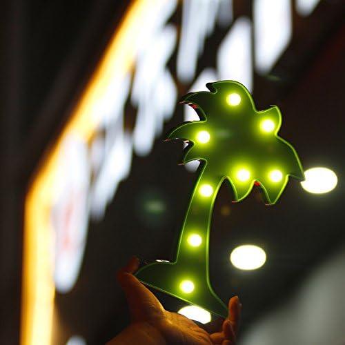cuore luce notturna da bambini per cameretta a forma di cactus//nuvole//ananas//fenicotteri//albero di Natale palma da cocco//I Love You Ananas icase4u Lampada decorativa da tavolo con luce LED