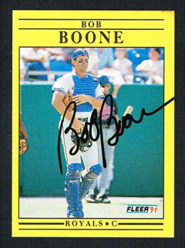 Bob Boone #551 signed autograph auto 1991 Fleer Baseball Trading ()