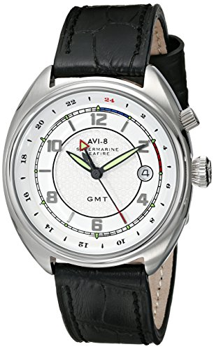 AVI-8 Men's AV-4030-01 Supermarine Seafire Analog Display Swiss Quartz Black Watch