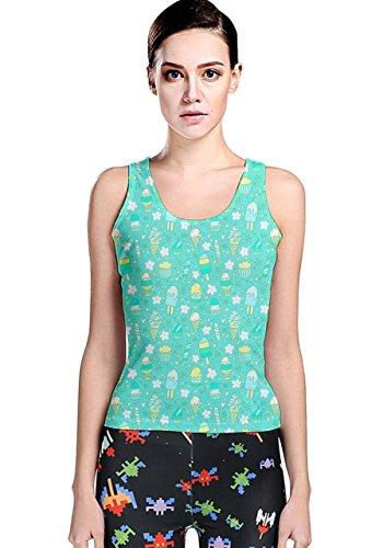 CowCow - Camiseta sin mangas - para mujer turquesa