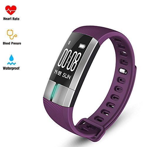 Blood Pressure Heart Rate Wristband Fitness tracker - Pulsometros ECG&PPG Monitoring Smart Watch Real time Heart Rate Blood Pressure Fitness Sports Watch Call SMS for Android IOS