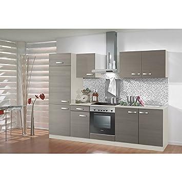 Optifit Küchenzeile Mit E Geräten Vigo Breite 270 Cm Braun Made