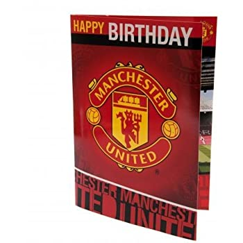 Amazon Musical Birthday Card Manchester United Fc Sports