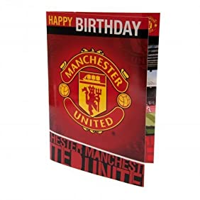 Musical Birthday Card - Manchester United F.C
