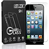 Supone 9H Hardness HD Tempered Glass Screen Protector for iPhone 5 / 5c / 5S / SE - Clear (Pack of 2)