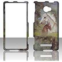 2D Racing Horse HTC Windows Phone 8X / Accord / Zenith 6990 AT&T , T-Mobile , Verizon Hard Case Snap-on Hard Shell Protector Cover Phone Hard Case Case Cover Faceplates