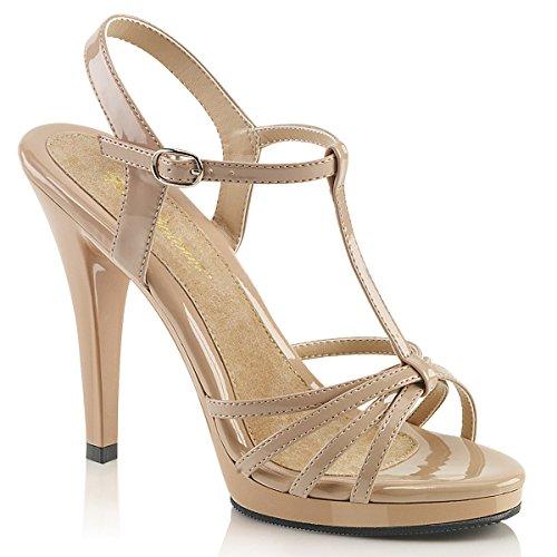 Fabulicious Fla420/B/M, Women's Heels Sandals Nude Pat/Nude