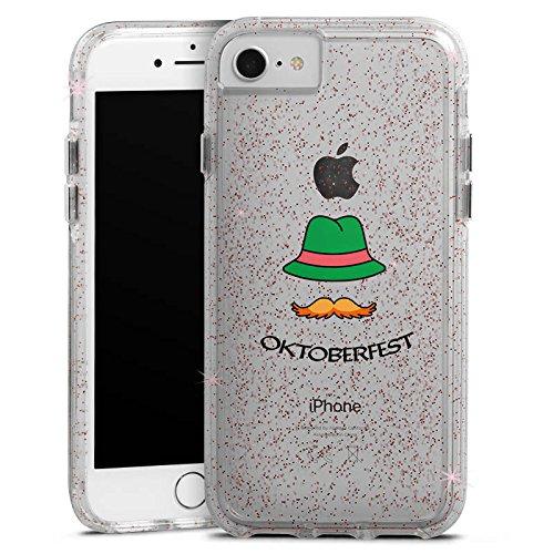 Apple iPhone 8 Bumper Hülle Bumper Case Glitzer Hülle Oktoberfest Bayern Freigestellt