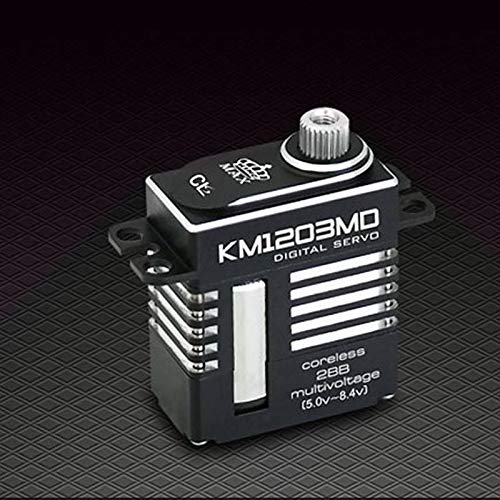 (HATCHMATIC KINGMAX KM1203MD 20g 9kg. cm Digital Metal Gear Mini servo Full CNC Aluminum case for RC or 450 Class Heli Tail and swashplate: 1pc)