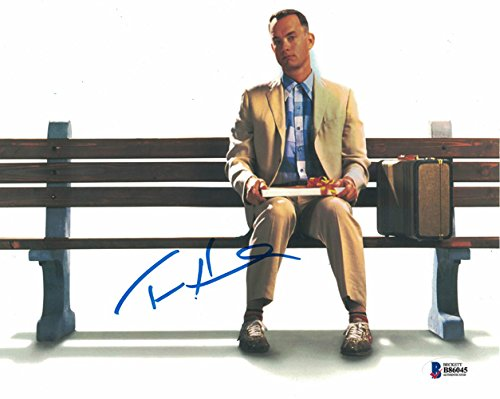 Tom Hanks Autographed Forrest Gump 8X10 Photo Box Of Chocolates Bec