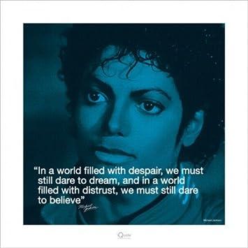 Michael Jackson Zitat Believe Poster Kunstdruck 40 X 40cm