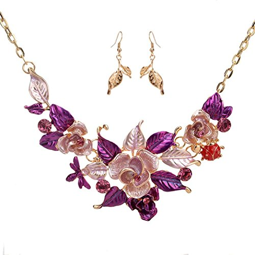TOPUNDER Women Fashion Crystal Necklace Jewelry Statement Pendant Charm Chain Choker by