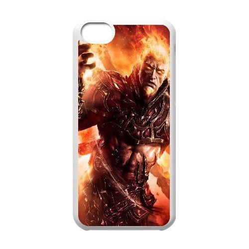 Y4D06 dieu de l'ascension de la guerre Q1S8HJ cas d'coque iPhone de téléphone cellulaire 5c couvercle coque blanche IG8QFX4LN
