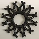 Cheap Cast Iron Horse Shoe Wreath Western Wall Decoration for Ranch Barn Country Farm Home Antique Vintage Style