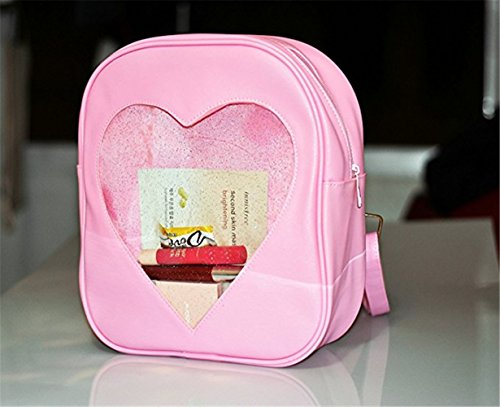 TOMATO-smile - Bolso mochila  de poliuretano para mujer multicolor azul celeste Rosa