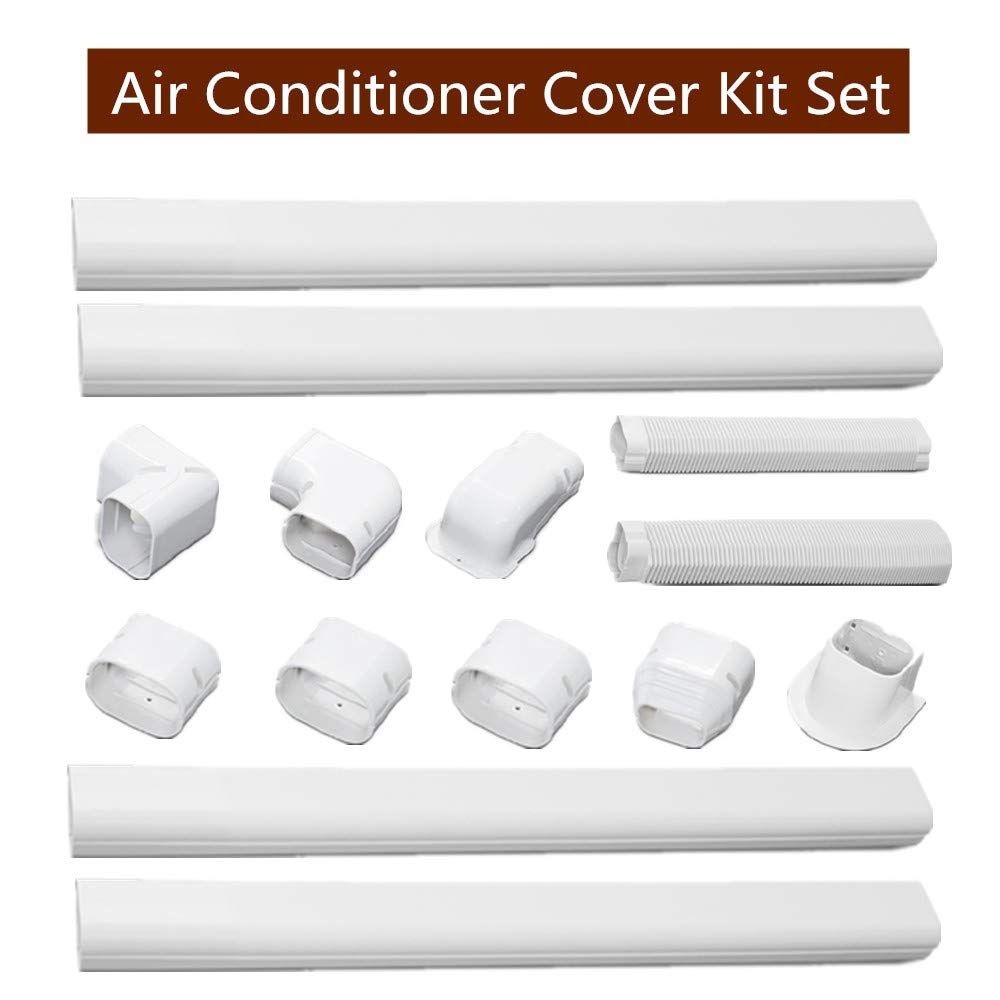 SEAL Air Conditioner Decorative PVC line Set Cover kit, Durable Air Conditioning Tubing Cover for Air Conditionerand Heat Pump Systems (Air-Conditioner-Cover-Kit 4 Pipes)