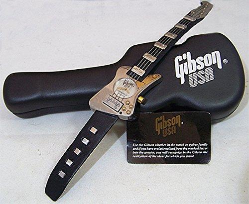 gibson guitar watch gibson firebird v silver wristwatch novelty 1996